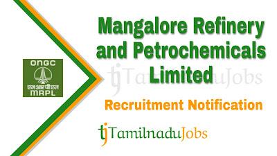 MRPL Recruitment notification 2019, govt jobs for engineers, govt jobs for m.sc, central govt jobs