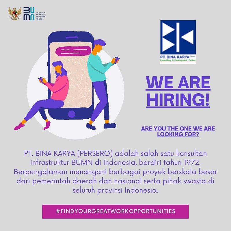 Lowongan Kerja Bumn Medan Desember 2020 Di Pt Bina Karya Persero Tbk Lowongan Kerja Medan Terbaru Tahun 2021