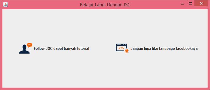 Gambar 3 - jLabel Pada Komponen Swing Di Java
