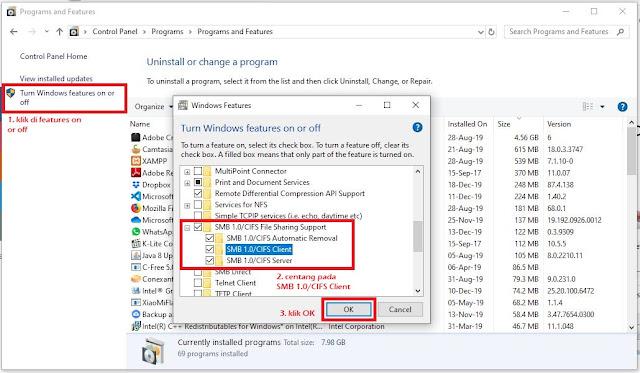 Cara mengatasi error 0x80004005 untuk Shared Folder di Windows 10