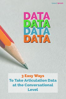 3 easy ways to take articulation data in speech therapy at the conversational level. Great tips for speech-language pathogists .#speechsprouts  #speechandlanguage #speechtherapy  #articulation