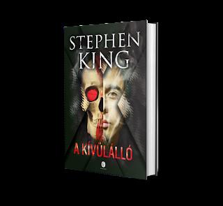Stephen King: A kívülálló 3d-s könyv borító, megjelent az Európa Könyvkiadó gondozásában 2019-ben (The Outsider)