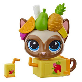 LPS Series 4 Thirsty Pets Siamese Cat (#4-166) Pet