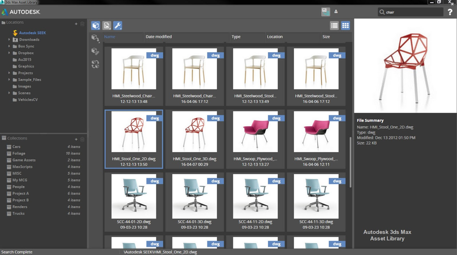 Download Autodesk 3ds Max Asset Library V115