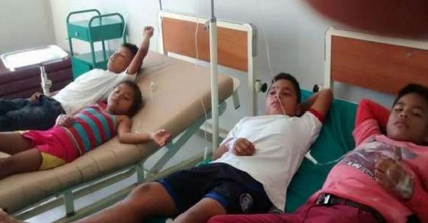 Escolares afectados por posible intoxicación en San Martín fueron dados de alta