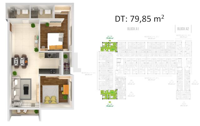 thiết kế căn hộ golf view tower 79