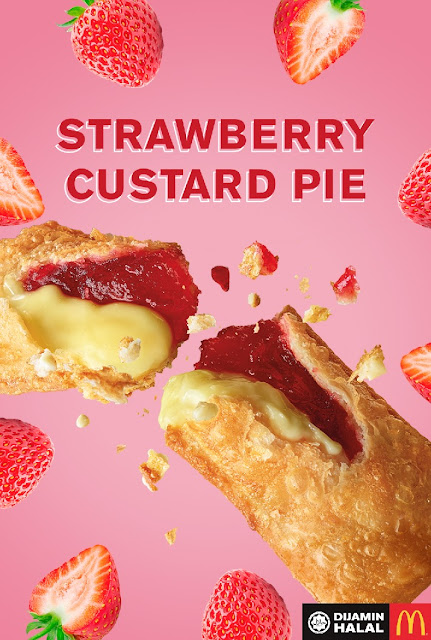 menu baru McDonald's Strawberry Custard Pie