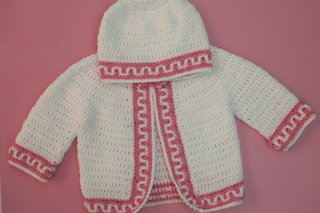 6-Crochet Imagen Gorrito conjunto con chaqueta a crochet y ganchillo por Majovel Crochet