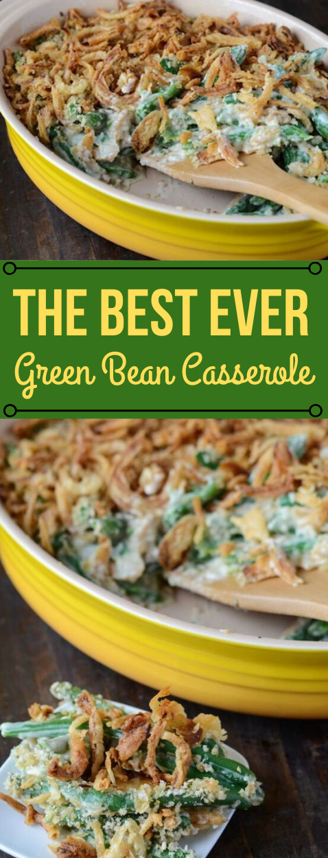 BEST GREEN BEAN CASSEROLE RECIPE #dinner #casserole #bean #recipes #easy