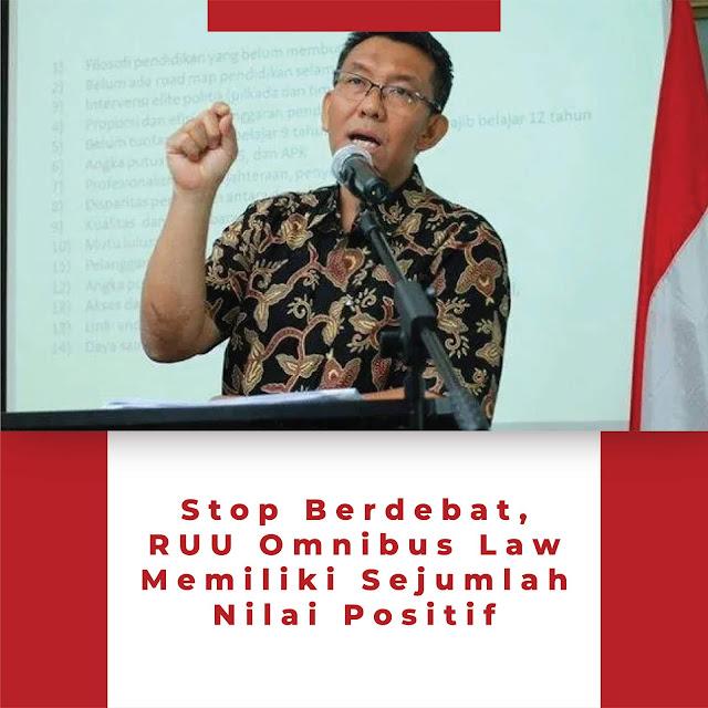 stop berdebat RUU Omnibus Law