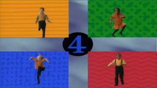 4 kids dance in 4 blocks. Sesame Street Preschool is Cool, Counting With Elmo