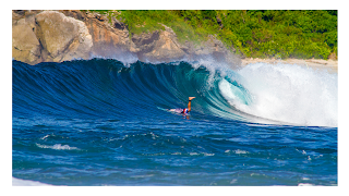 surfing di pulau lombok
