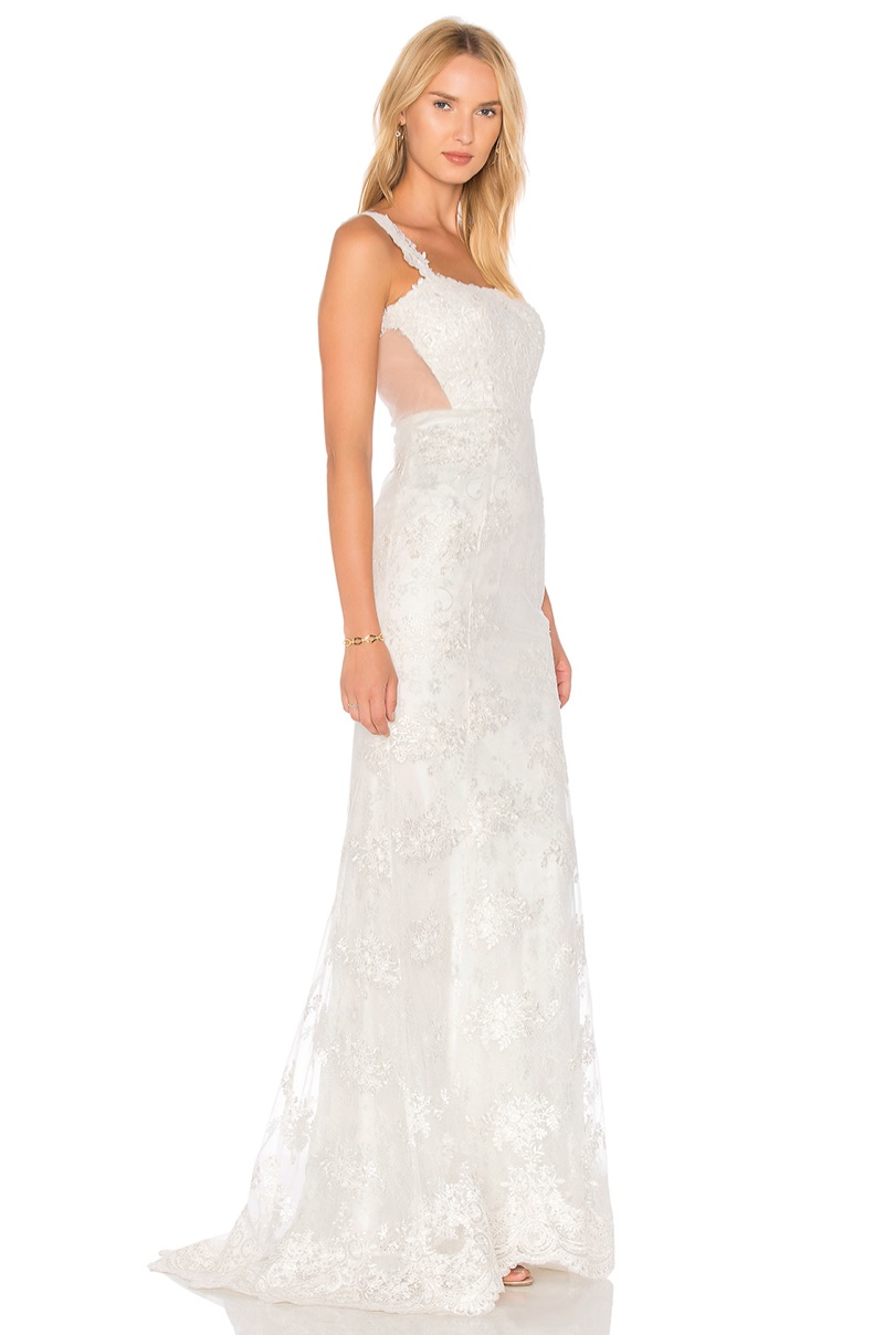Heartloom 'Andie' Gown $748 - This dreamy gown comes in an embroidered floral lace with a hidden zipper at the back.