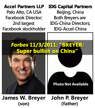James W. Breyer, John P. Breyer, Facebook, Accel Partners LLP, IDG Capital Partners, Chinese investing