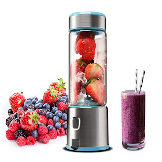 Portable Glass Smoothie Blender, Kacsoo S620 USB Rechargeable Personal Blender Juicer Cup