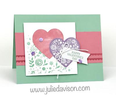 January 2020 I'll Bee Yours Paper Pumpkin Alternative Projects ~ Valentine's Day Card ~ www.juliedavison.com