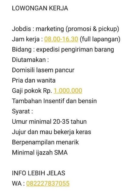 Lowongan Kerja Marketing Toko Distro PROGRES Store Rembang