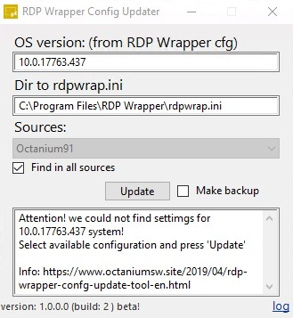 RDP Wrapper Confg Update
