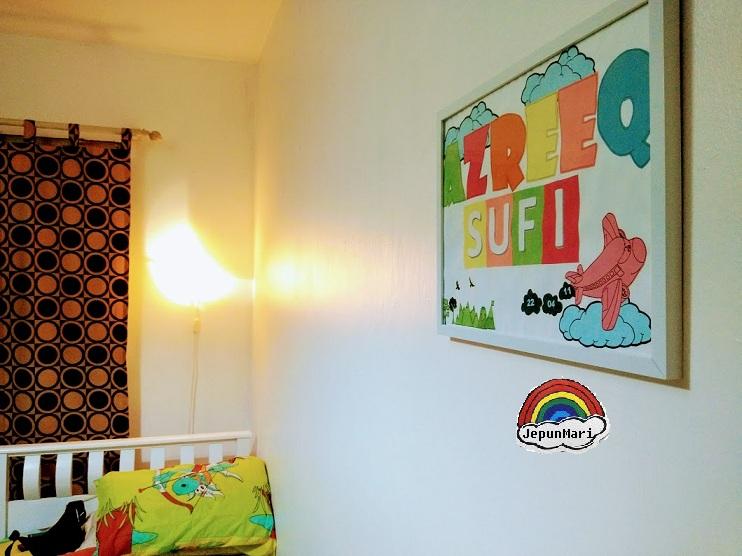 DIY Frame bilik tidur anak
