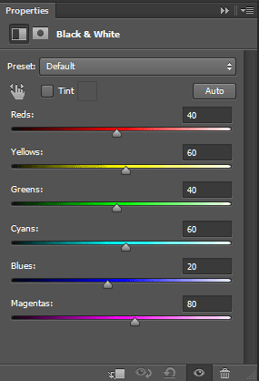 Black-and-white-adjustment-layer-settings-in-Photoshop