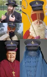 hoed van blik kerstballen