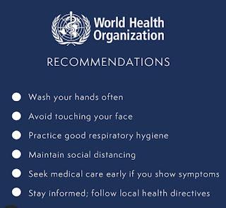 Prince Harry and Meghan Markle's lists of WHO Covid-19 health advisory measures to keep health workers safe