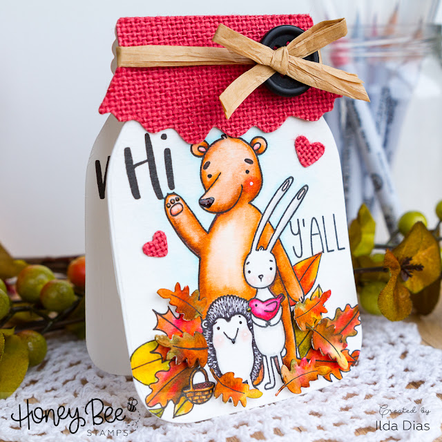 Life Is Sweeter with Y'All In It | Fall Mason Jar Friendship Card by ilovedoingallthingscrafty.com