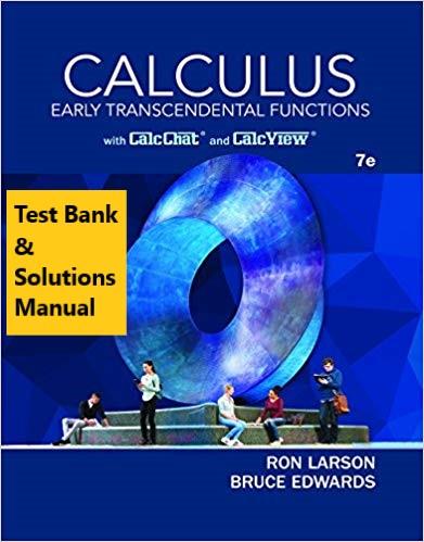 Instructors Solution Manual Larson Calculus