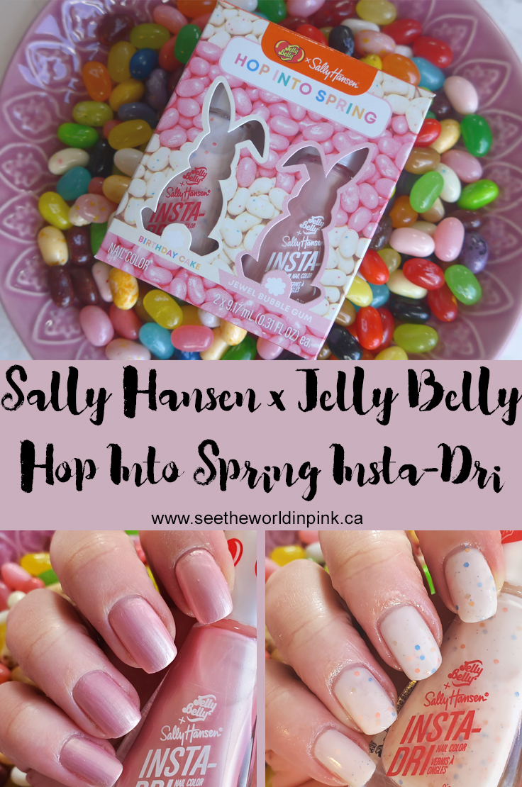 Manicure Monday - Sally Hansen x Jelly Belly Insta-Dri Hop Into Spring Nail Color Set