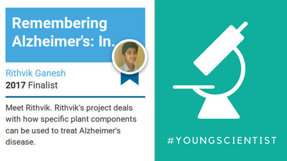 Rithvik Ganesh Young Scientist Finalist #YoungScientist