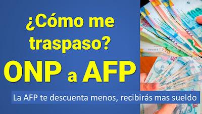 ¿Cómo me traspaso de la ONP a la AFP por internet? Revisa los requisitos y beneficios del Bono de Reconocimiento