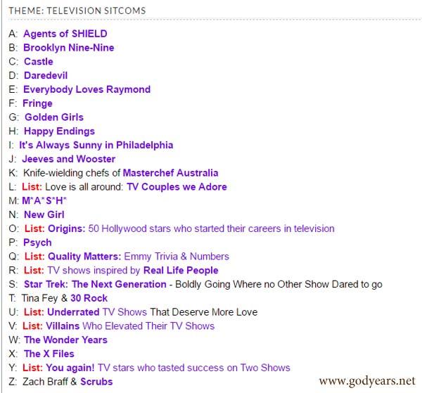 tv show trivia list