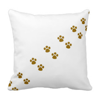 Animal paw throw pillow