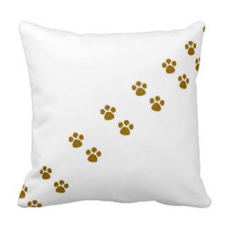 Animal paw throw pillow