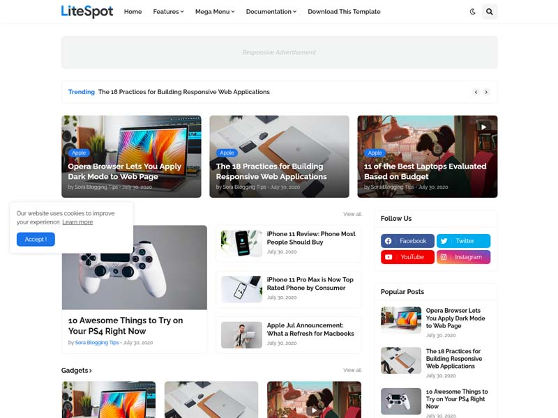 LiteSpot Blogger Template