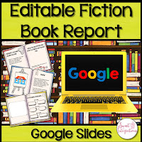 Fiction book report - digital book report google slides