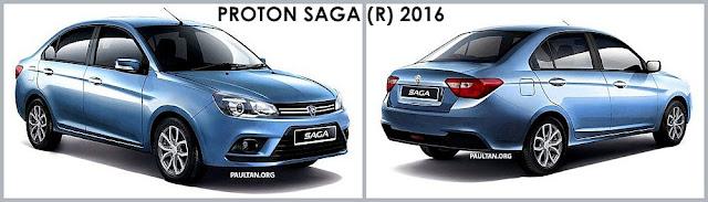 Model Kereta Proton Saga Baharu 2016