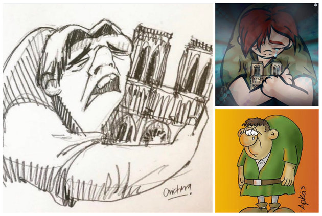 Notre Dame's Heartbreaking Catastrophe Through The Eyes Of Illustrators