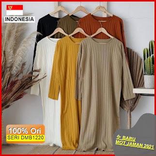 Dmb1220 Dress Wanita Rawdah Midi Dress Rajut Knit Dress Rajut Premium Midi Dress Selebgram