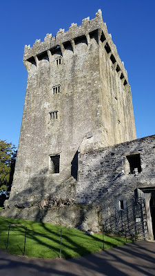Blarney Castle and if you look close, the Blarney Stone!