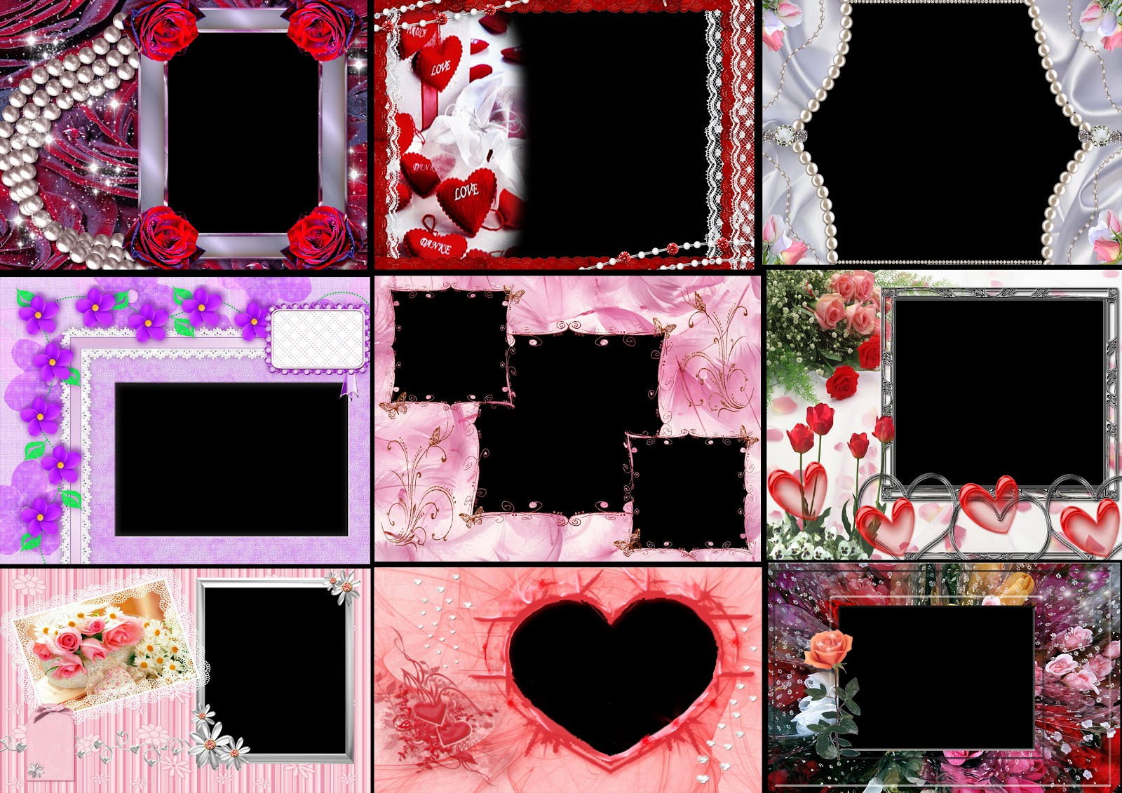 15 Photo Frames Pack psd,png