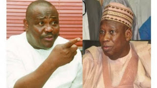 A man who stuffs dollars from contractors in his babariga wants to isolate me - Wike slams Ganduje