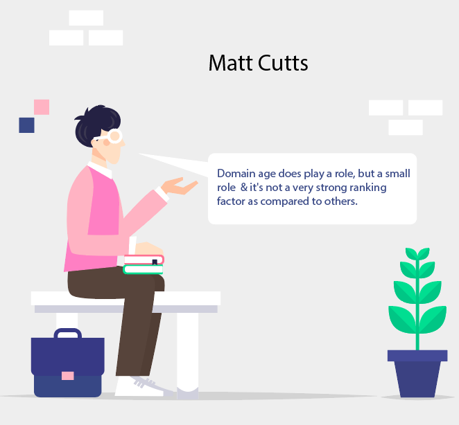 Matt Cutts quote on domain age