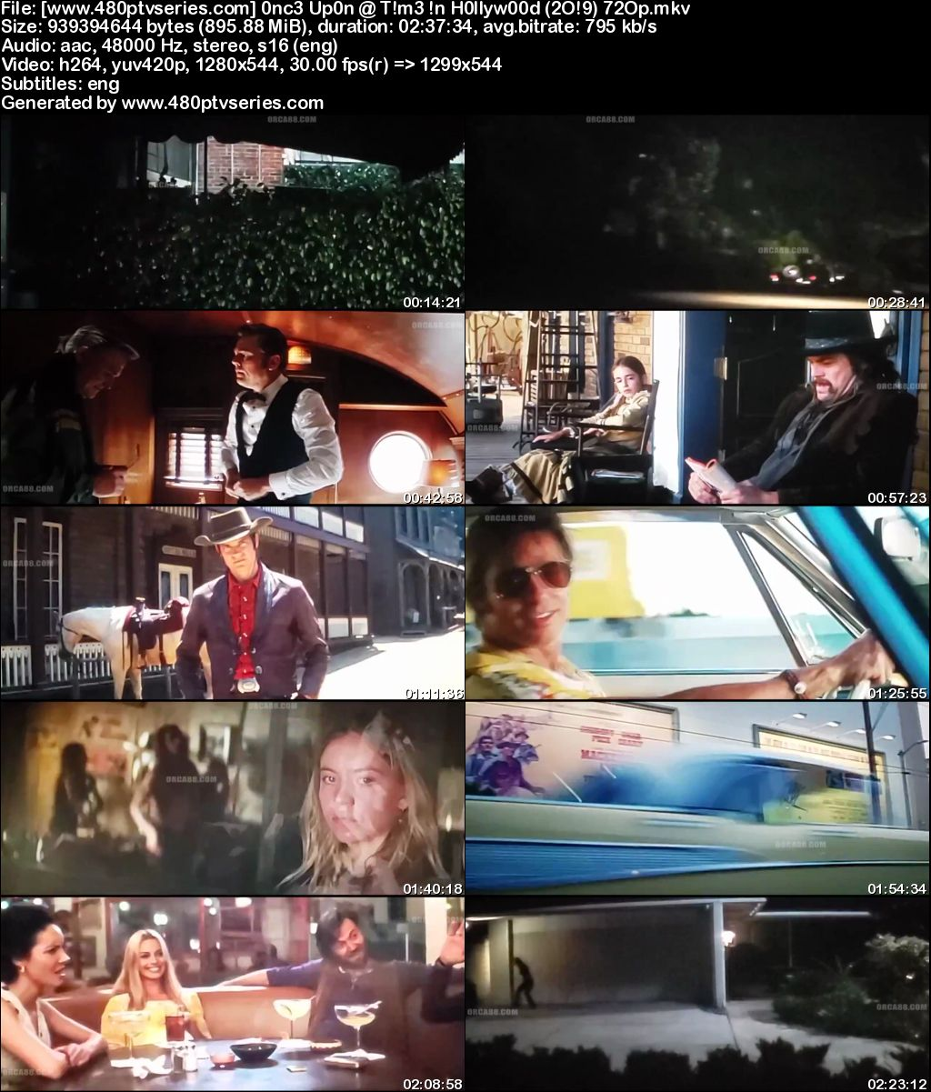 Watch Online Free Once Upon a Time In Hollywood (2019) Full English Movie Download 720p 480p HD