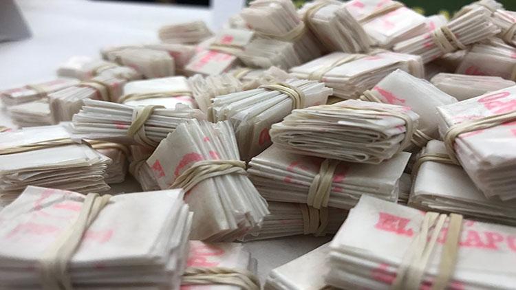 Decomisan paquetes de heroína con los nombres grabados de El Chapo y de Donald Trump en Estados Unidos.