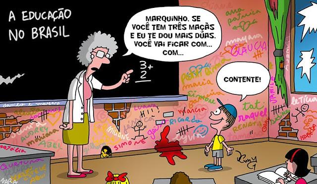 Resultado de imagem para charge educação