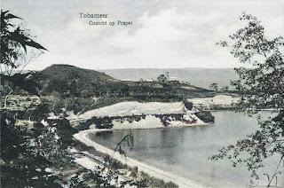 pemandangan pantai danau toba yang luas di parapat