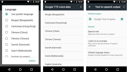 أحسن تطبيق لدى جوجل Google يحول النص المكتوب إلى كلام