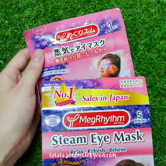 Review; Kao MegRhythm's Steam Eye Mask Lavender Sage Scent
