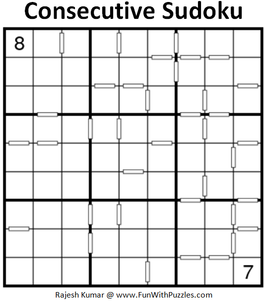Consecutive Sudoku (Fun With Sudoku #201)